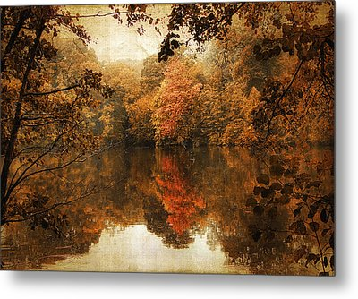 Autumn Reflected Metal Print by Jessica Jenney