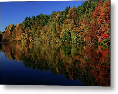 Autumn Reflection Of Colors Metal Print by Karol Livote