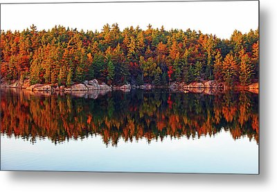 Metal Print featuring the photograph   Autumn Reflections by Debbie Oppermann