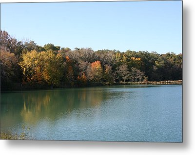 Autumn Reflections Metal Print by Gregory Jeffries