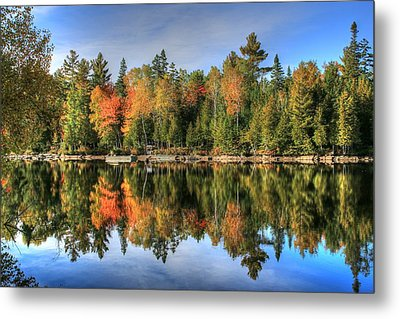Metal Print featuring the photograph Autumn Reflections Of Maine by Shelley Neff