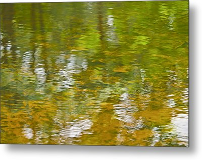 Metal Print featuring the photograph Autumn Reflections by Wanda Krack