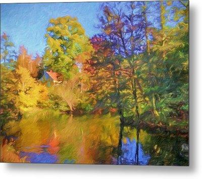 Autumn River Metal Print by Lutz Baar