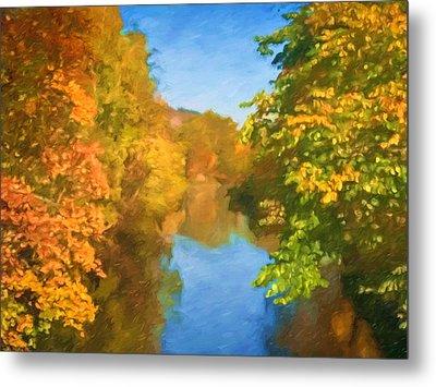 Autumn Riverlight Metal Print