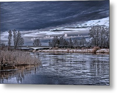 Autumn Riverscape Metal Print