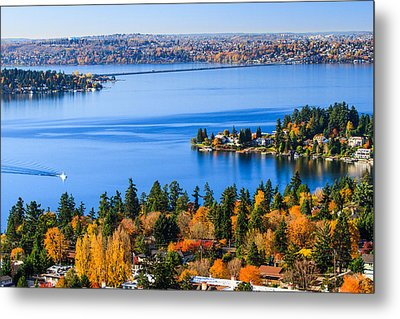 Autumn Scenery Metal Print by Feng Wei Photography