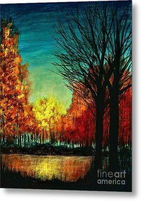 Autumn Silhouette  Metal Print
