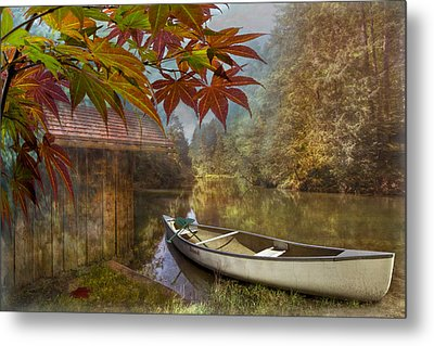 Autumn Souvenirs Metal Print by Debra and Dave Vanderlaan