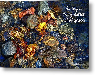 Metal Print featuring the drawing Autumn Splash Grace by Diane E Berry