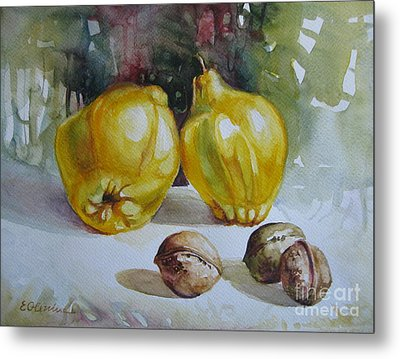 Metal Print featuring the painting Autumn Still Life 2 by Elena Oleniuc