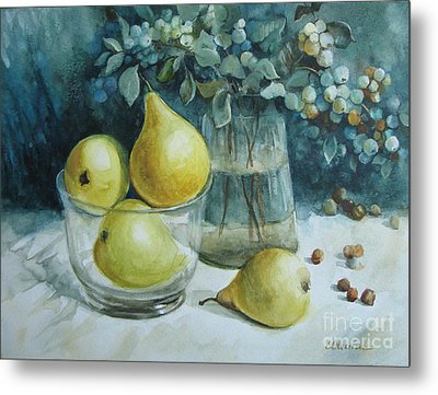 Metal Print featuring the painting Autumn Still Life 3 by Elena Oleniuc