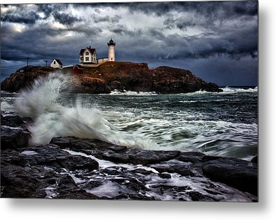 Autumn Storm At Cape Neddick Metal Print