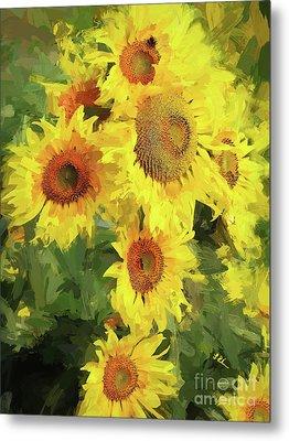 Autumn Sunflowers Metal Print