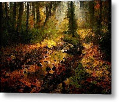 Autumn Sunrays Metal Print