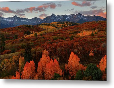 Metal Print featuring the photograph Autumn Sunrise At Dallas Divide In Colorado by Jetson Nguyen