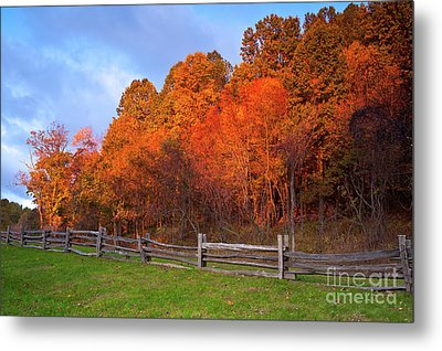 Metal Print featuring the photograph Autumn Sunrise At Peaks Of Otter In The Blue Ridge by Dan Carmichael