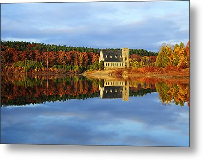 Autumn Sunrise At Wachusett Reservoir Metal Print