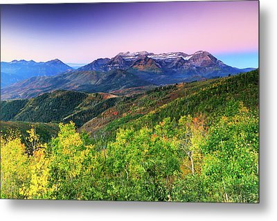 Metal Print featuring the photograph Autumn Sunrise In The Utah Mountains. by Johnny Adolphson