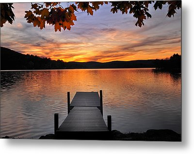 Autumn Sunset Metal Print by Thomas Schoeller