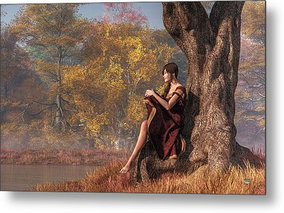 Autumn Thoughts Metal Print