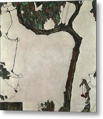 Autumn Tree Metal Print by Egon Schiele