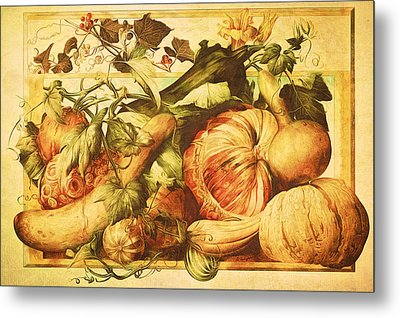 Metal Print featuring the digital art Autumn Vegetable Harvest  by Tracie Kaska