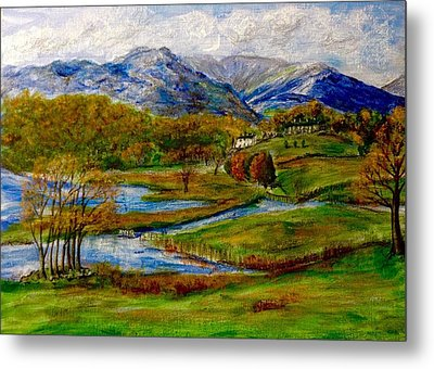 Autumn View Of The Trossachs Metal Print