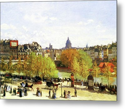 Autumn Walk On The Promenade Metal Print