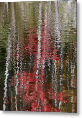Metal Print featuring the photograph Autumn Water Color by Susan Capuano