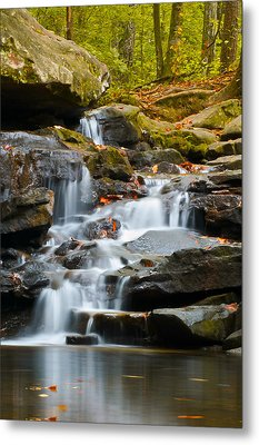 Autumn Waterfall Metal Print by Shelby  Young