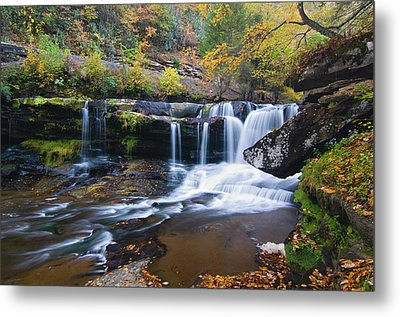 Metal Print featuring the photograph Autumn Waterfall by Steve Stuller