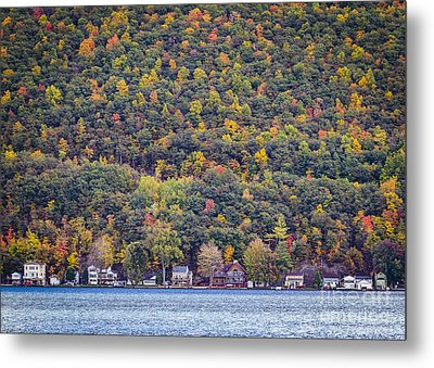 Autumn Waterside Metal Print