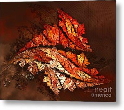 Autumn Wind Metal Print by Jutta Maria Pusl