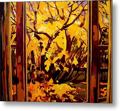 Autumn Window Metal Print by Tim  Heimdal