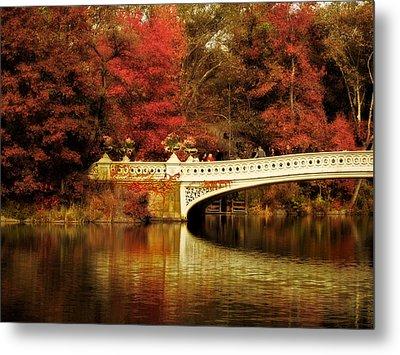 Autumnal Bow Bridge  Metal Print by Jessica Jenney