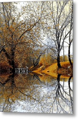 Metal Print featuring the photograph Autumnal by Elfriede Fulda