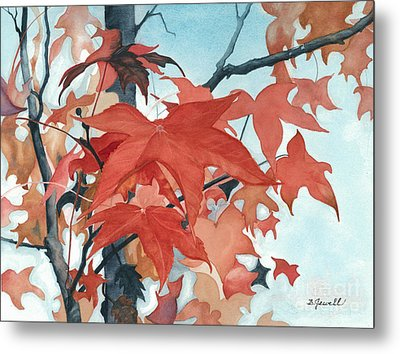 Metal Print featuring the painting Autumn's Artistry by Barbara Jewell