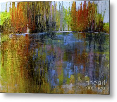 Autumn's Caress Metal Print by Melody Cleary