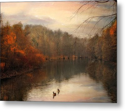Autumn's Ebb Metal Print by Jessica Jenney