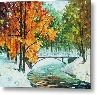 Autumn's End Metal Print by Leonid Afremov