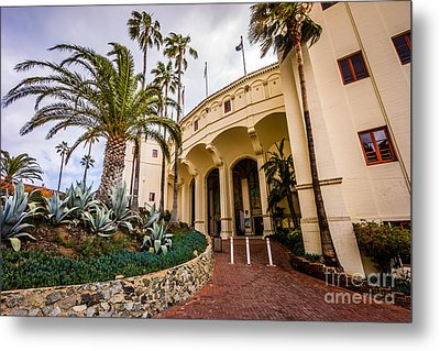 Avalon Casino Entrance On Catalina Island Metal Print