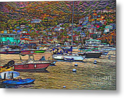 Avalon Harbor Sunset Metal Print by Norma Warden