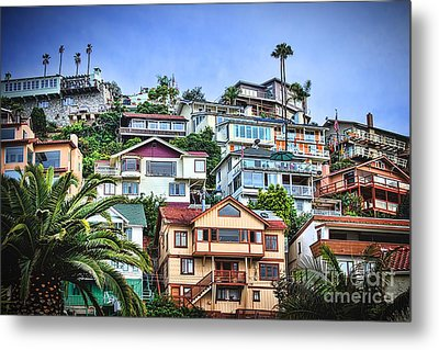 Avalon Hillside With Harbor View Metal Print by Norma Warden