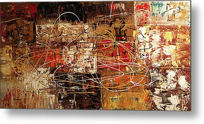 Metal Print featuring the painting Avant Garde by Carmen Guedez