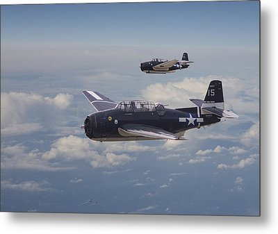 Avenger Strike Metal Print by Pat Speirs