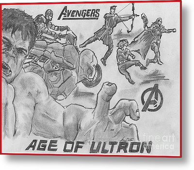 Avengers Age Of Ultron Metal Print by Chris  DelVecchio