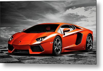 Aventador Metal Print by Peter Chilelli