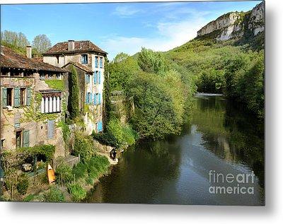 Aveyron River In Saint-antonin-noble-val Metal Print by RicardMN Photography