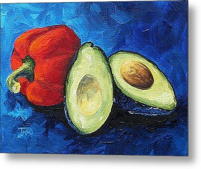 Avocado And Pepper  Metal Print by Torrie Smiley