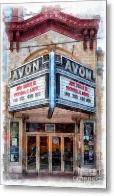 Metal Print featuring the painting Avon Cinema Theater East Providence Rhode Island by Edward Fielding